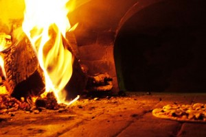 Wood burning oven Italian style at Nicli