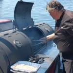 Ted's smoker in the water