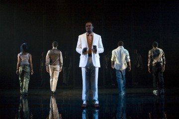 Lucky Ejim and cast in Shine Your Eye, Another Africa. Photo by John Lauener.