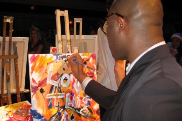 Al Gayle creates at Art Battle 19