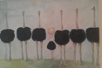 Artist Kate Domina's handiwork