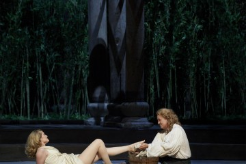 Jane Archibald as Semele and William Burden as Jupiter in the Canadian Opera Company production of Semele, 2012.