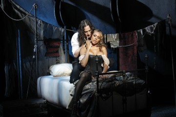 Constantine Maroulis as Edward Hyde and Deborah Cox as Lucy
