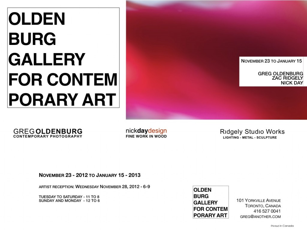 OLDENBURG GALLERY FOR CONTEMPORARY ART – POP UP and Opening Reception