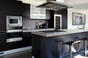 Black Kitchen Panasonic Kitchen Suite