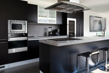 Black Kitchen Panasonic Kitchen Suite