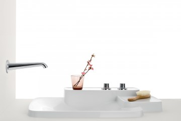 IDS 13 Axor Drop-in Washbasin with Two  Shelves and Three Hole Faucet  Bouroullec