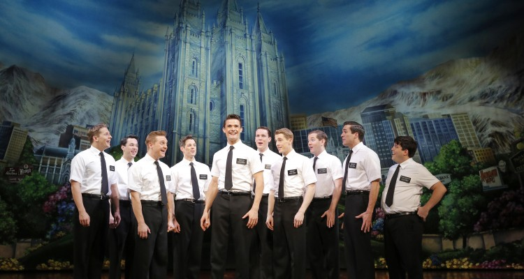 Mark Evans' The Book of Mormon performed in Toronto, Ontario, mormon men on stage