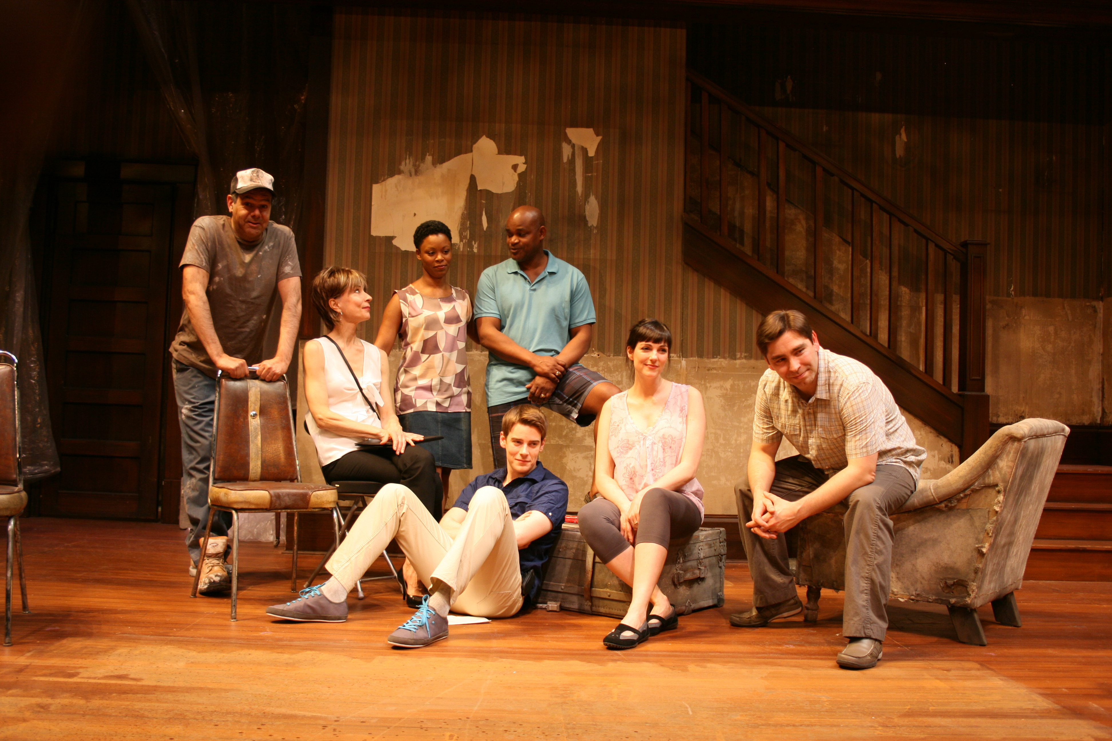 Bruce Norris' Clybourne Park, cast on stage at the Panasonic Theatre Toronto, Ontario