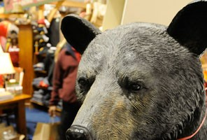 Spring Cottage Life Show black bear statue