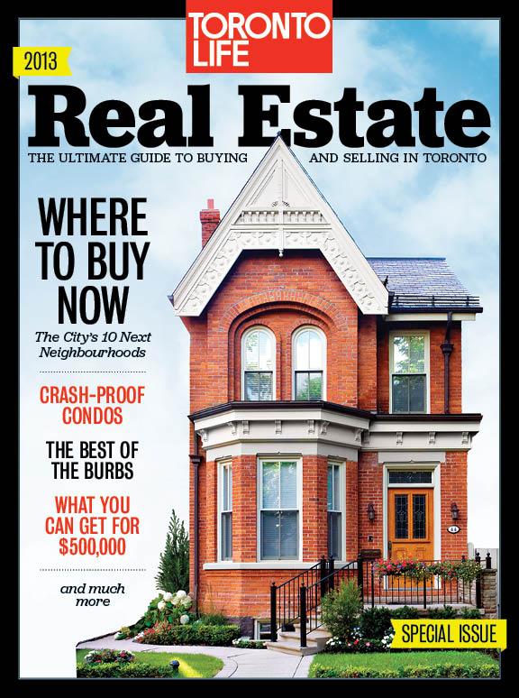 Toronto Life magazine cover, real estate guide