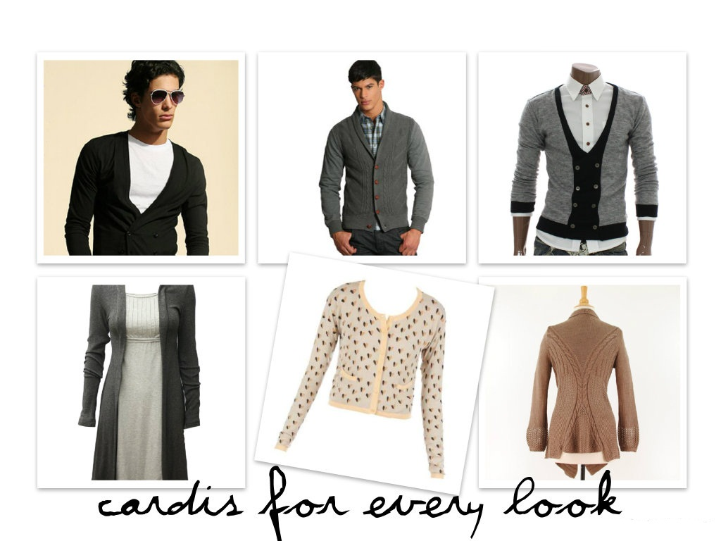 How to wear a cardigan.