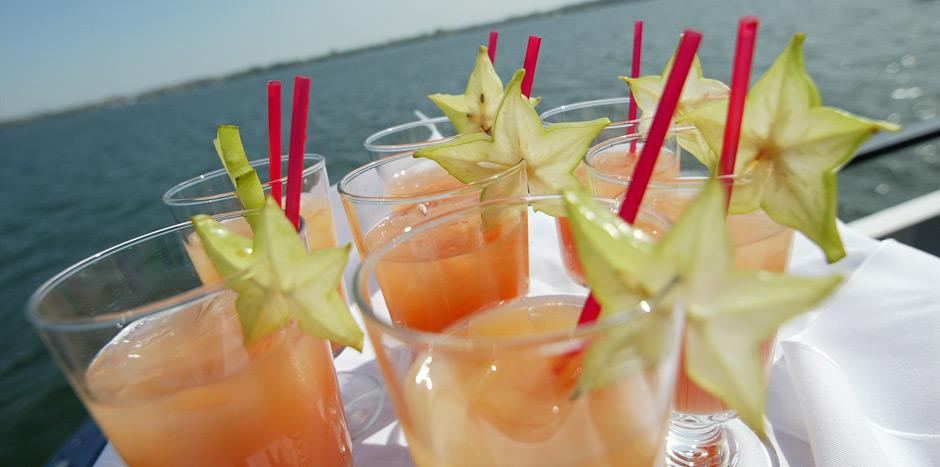 Enjoy food, drink and merriment aboard Mariposa's fleet