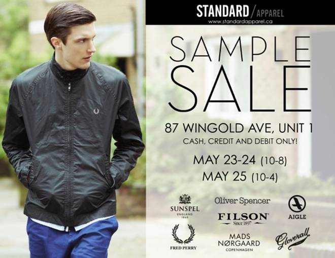 Standard Apparel spring/summer 2013 sample sale