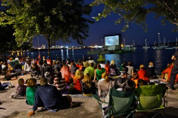 Sail-in Cinema at Sugar Beach