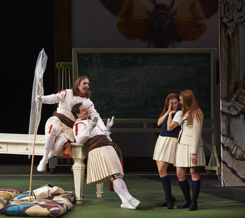 Fiordiligi and Dorabella end up being cornered and trapped, like butterflies, in Mozart's Così fan tutte