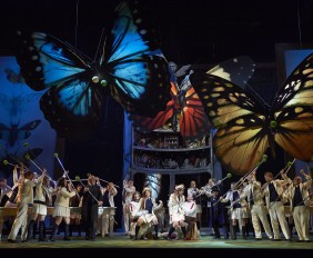 A scene from the Canadian Opera Company's new production of Così fan tutte, 2014. Conductor Johannes Debus, director Atom Egoyan, set and costume designer Debra Hanson, and lighting designer Michael Walton. Photo: Michael Cooper
