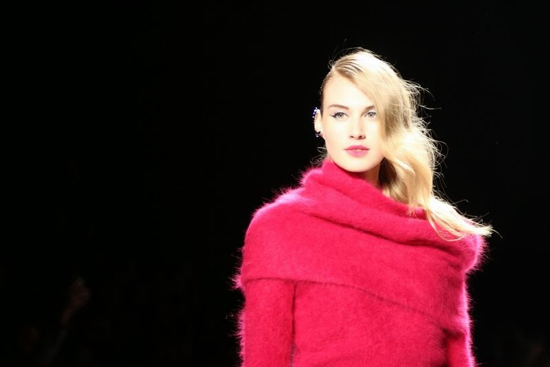 Line showcased hot pinks and matching separates on day one of WMCFW Fall 2014.