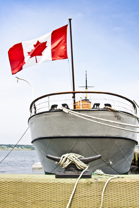 Canadian boat at harbour