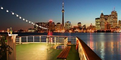Boating in Toronto, Canada. View from a Mariposa liner.