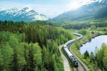 VIA Rail Travel Canada on a train