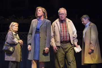 Nancy Beatty, Julie Stewart, Eric Peterson and Michael Healey in Dead Metaphor. Photo Credit: Cylla von Tiedemann