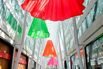 Soft Spin installation by Heather Nicol energizes Brookfield Place June 2 to 19, 2014
