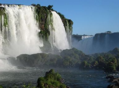 South America is known for its many spectacular waterfalls.