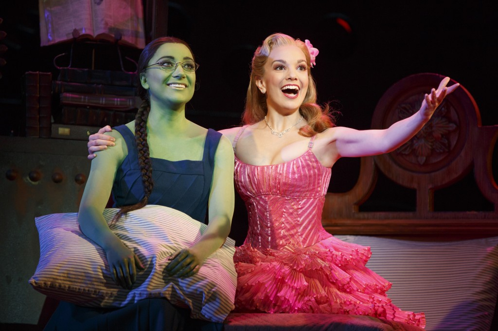 Wicked: Laurel Harris and Kara Lindsay (Photo by Joan Marcus 2014)
