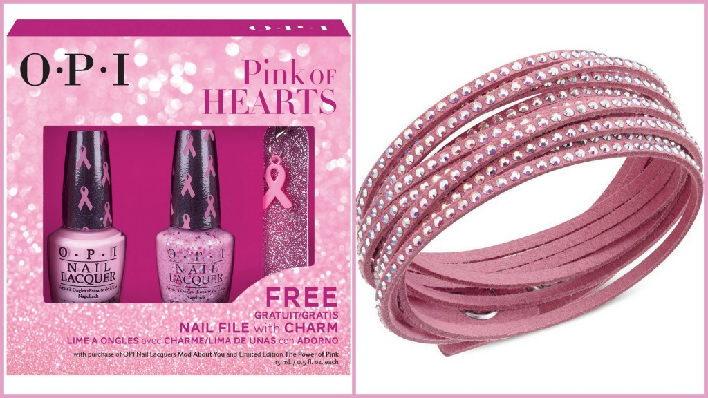 Enter our contest for your chance to WIN an OPI Pink of Hearts Limited Edition package, or a Swarovski Limited Edition Pink Slake bracelet.