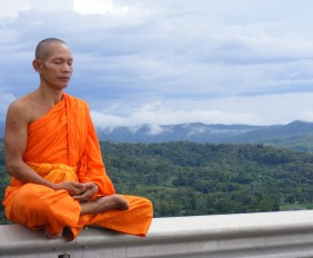Meditation Monk. Silence is golden.