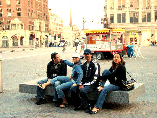 Europe travel with friends and family.