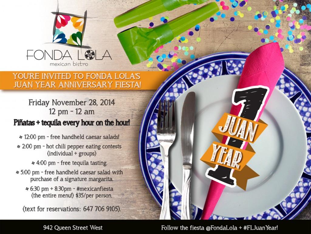 Fonda Lola Toronto. Mexican eatery.