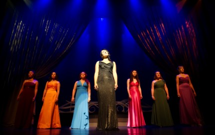 Opera Luminata's Jennifer Elisabetta Centrone and ladies.