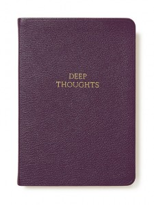 """Holiday Gift Guide for Her: 8"""" Leather Soft Cover """"Deep Thoughts"""" Journal"""