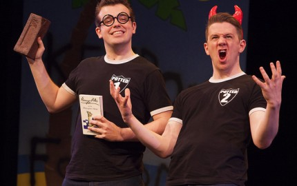James Percy and Benjamin Stratton in Potted Potter
