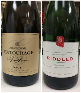 Two Canadian Sparkling Wines.