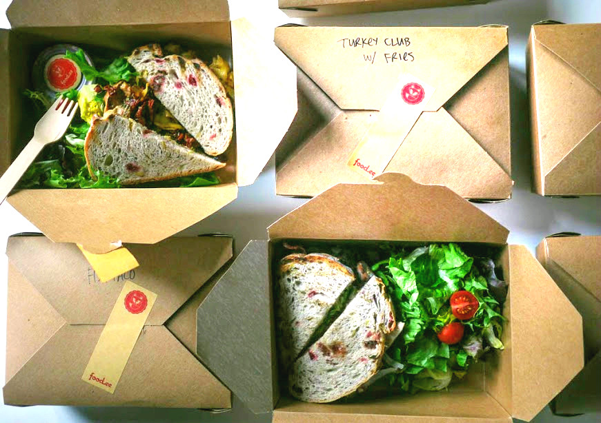 Foodee delivery Boxes. Office Catering, Toronto