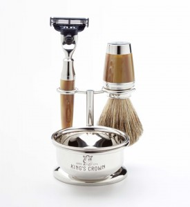 Holiday Gift Guide Men: Kings Crown Contemporary 4 piece Shaving Set