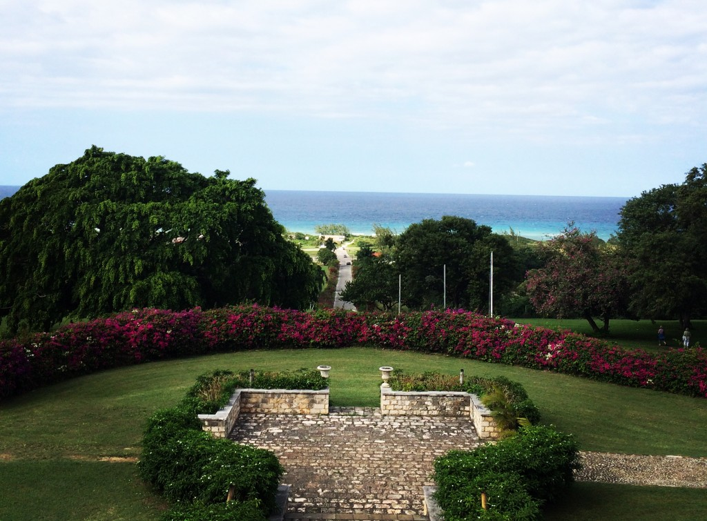 JTB Montego Bay. View from Rose Hall great House. The Scene inTO