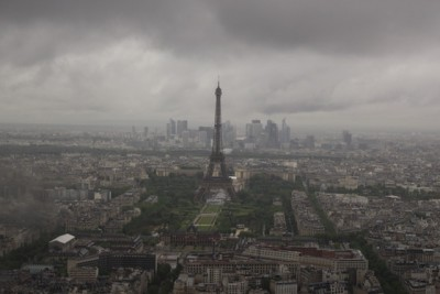 Dark skies over Paris. Off the beaten track Paris. Credit Greg George