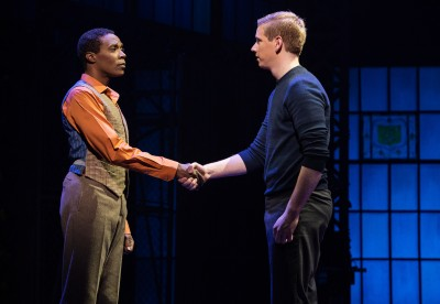 Alan Mingo Jr (Lola) and Graham Scott Fleming (Charlie) in the Canadian Production of Kinky Boots. theSceneinTO.com