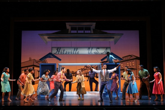 Clifton Oliver as Berry Gordy & Cast MOTOWN THE MUSICAL First National Tour (C) Joan Marcus, 2014