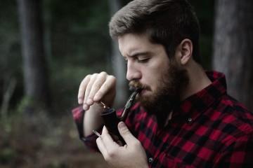 Beard and Pipe Unsplash Photo: Andrew Welsh. The Northern Beard Company Beard Oil. TheSceneinTO.com