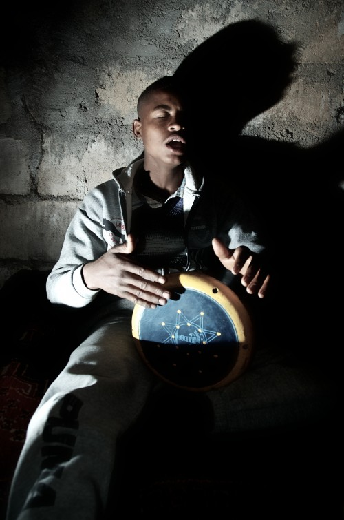 Young man with drum and eyes closed. Introduce your child to jazz. TheSceneinTO.com