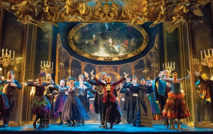 "Phantom of the Opera.The Company performs ""Masquerade."" Original Tour Cast."