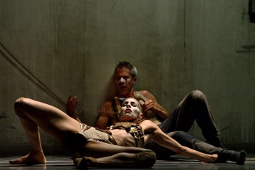 Tiffany Tregarthen and Jonathon Young in Betroffenheit. Photo by Michael Slobodian.