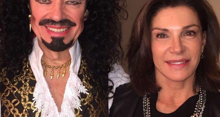 Ross Petty (as Captain Hook) and Hilary Farr