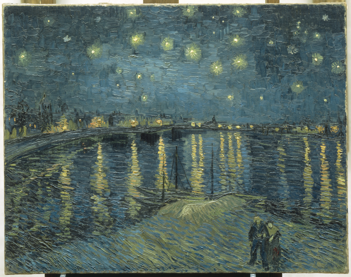 Vincent Van Gogh, The Starry Night over the Rhone at Arles, 1888, Oil on canvas, 73 x 92 cm, Collection of Musee d'Orsay (Image courtesy the Musee d'Orsay/Bridgeman Images)