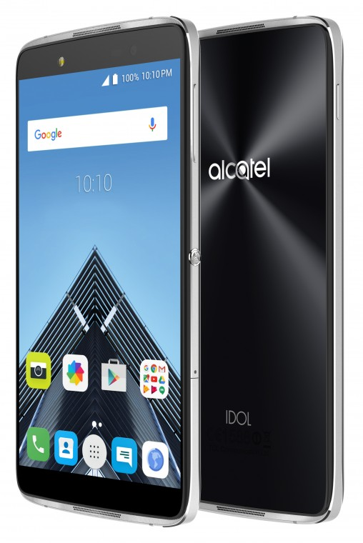 Alcatel Idol 4 front and back